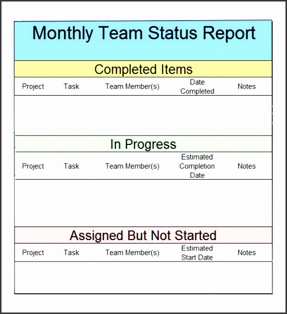 replacethis monthly team status report template design