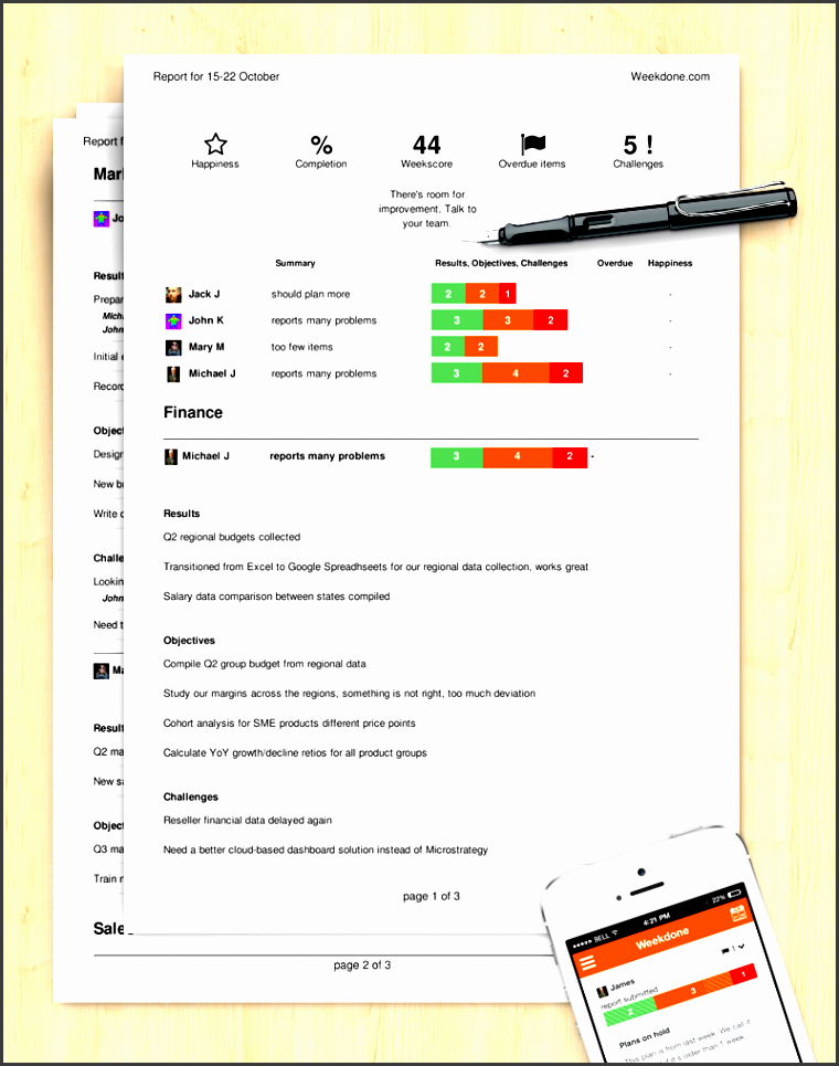 guide how to write an excellent progress report sample template weekdone