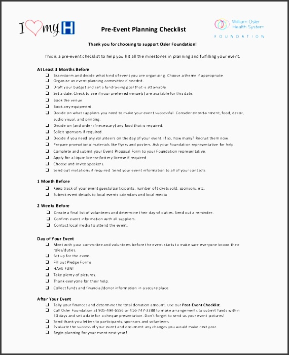 Event Checklist Template  Resume Ideas  NamanasaCom