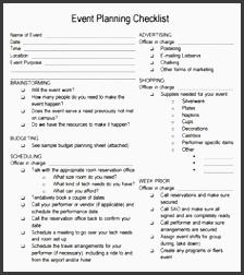 event planning questionnaire