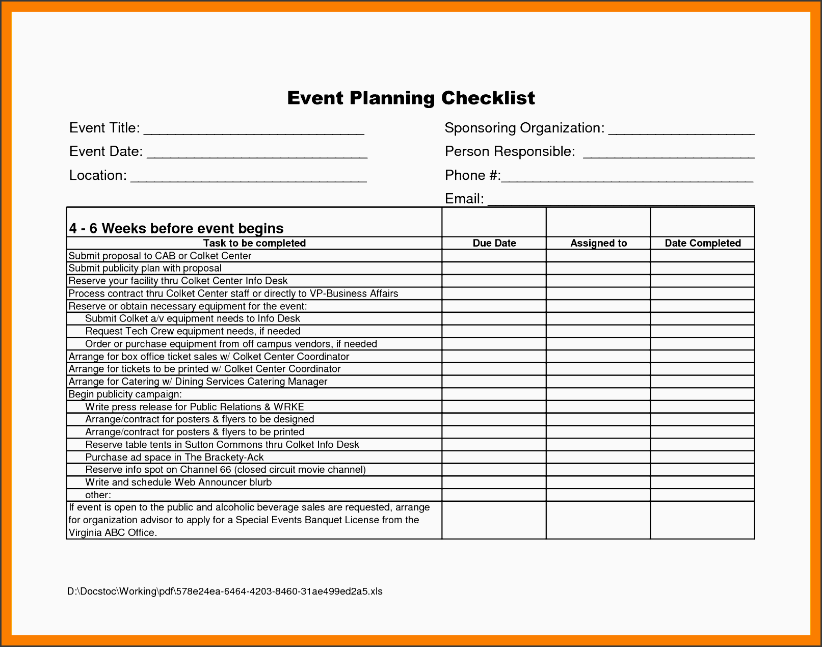 business proposal checklist 9+ business checklist templates – word, pdf a business checklist is very helpful and necessary in the business industry because it serves as a to-do list for entrepreneurs to remind them of what needs to be done.