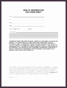 confidential fax cover sheet medical fax cover sheet