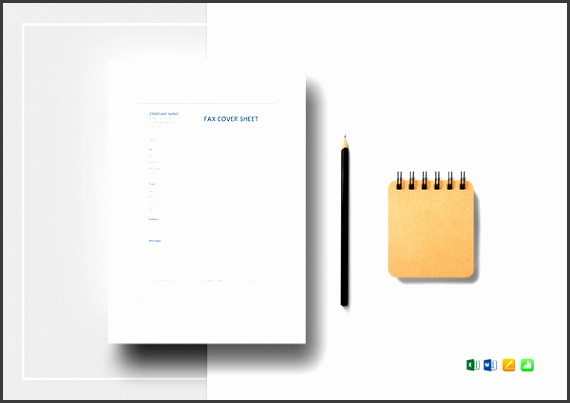 fax cover sheet excel template