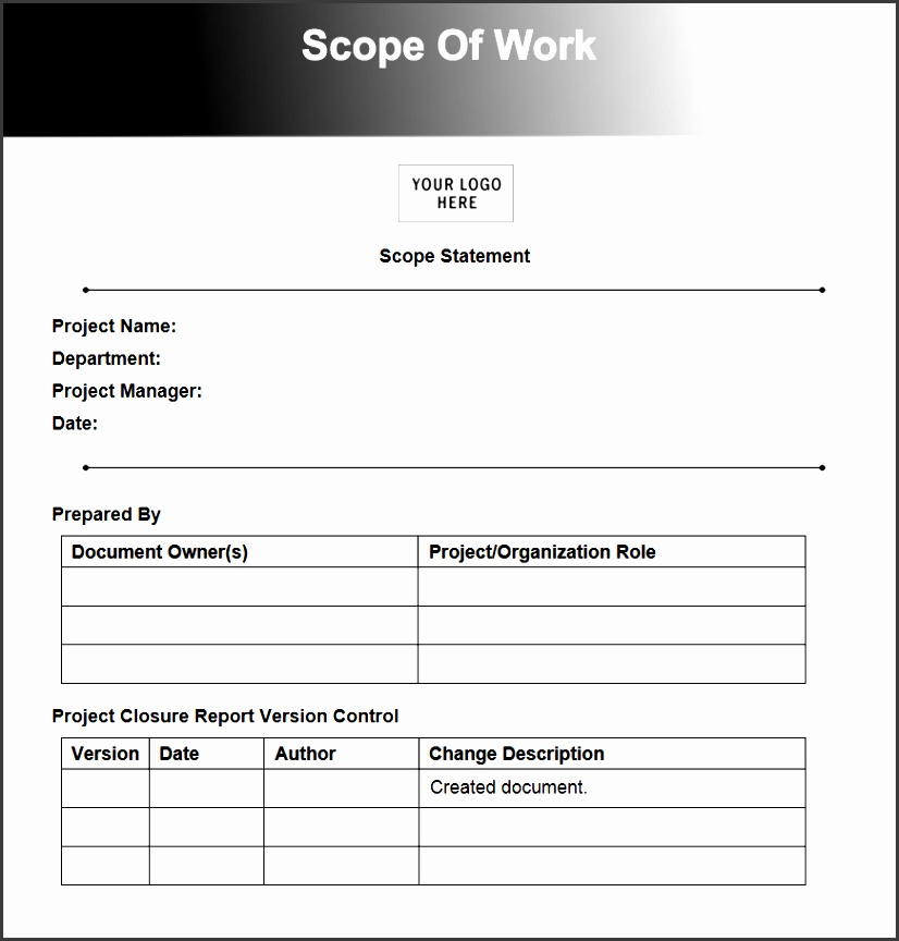 scope of work