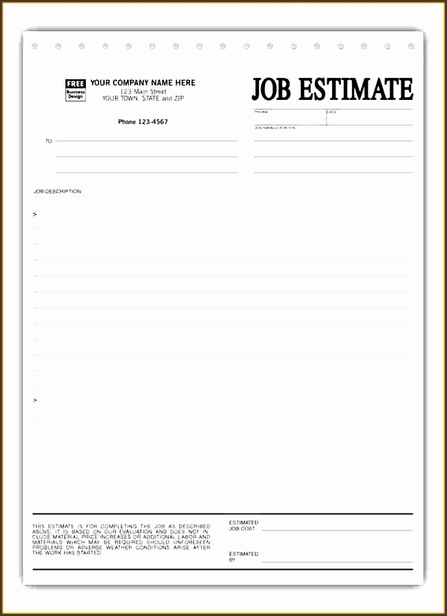 10 construction work estimate template