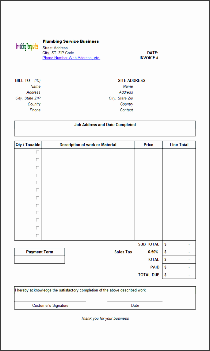 9 contractor invoice template in editable form