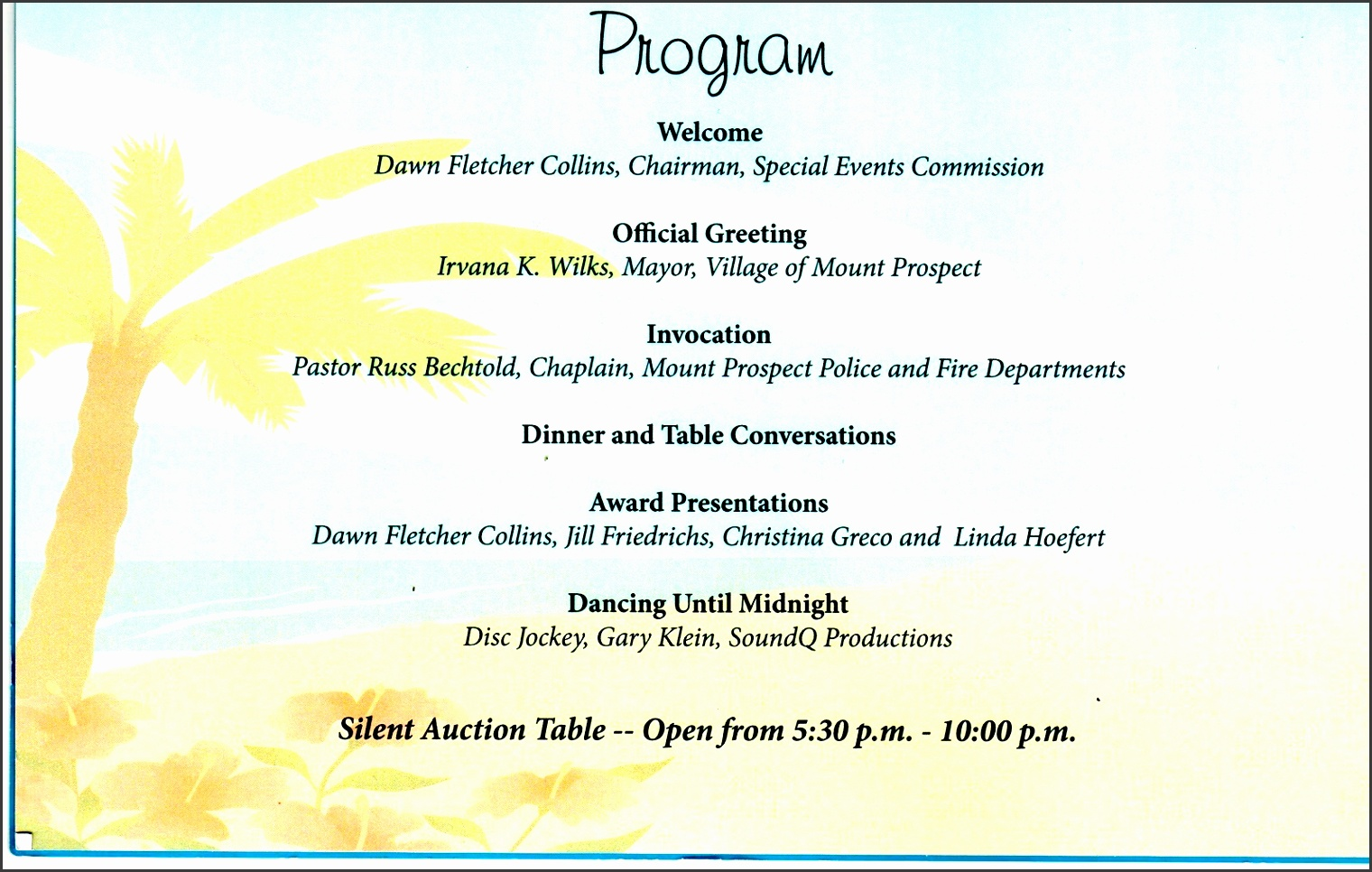 8 corporate event program template