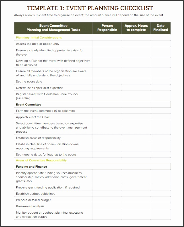 Event Checklist Template Word Excel Pdf Documents  Event Guest List Template