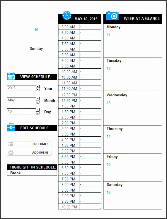 10 daily activity log example
