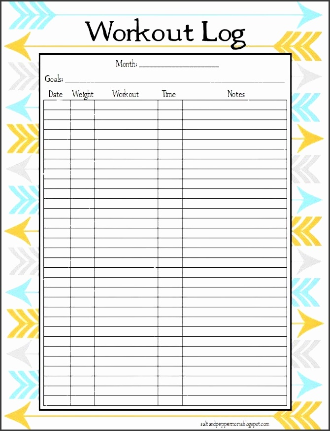 activity logs template