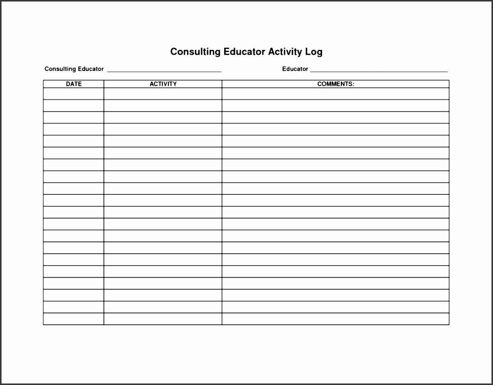 sales rep call report template and police daily activity log template