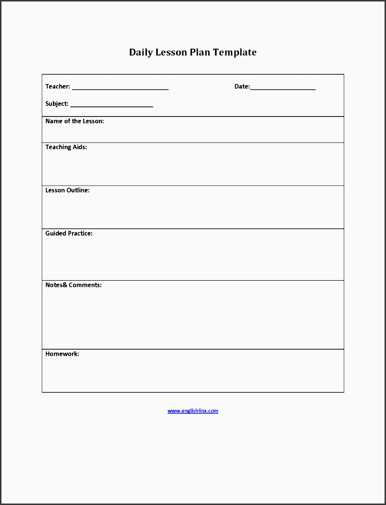 daily five lesson plan template - 7 daily lesson planner example sampletemplatess