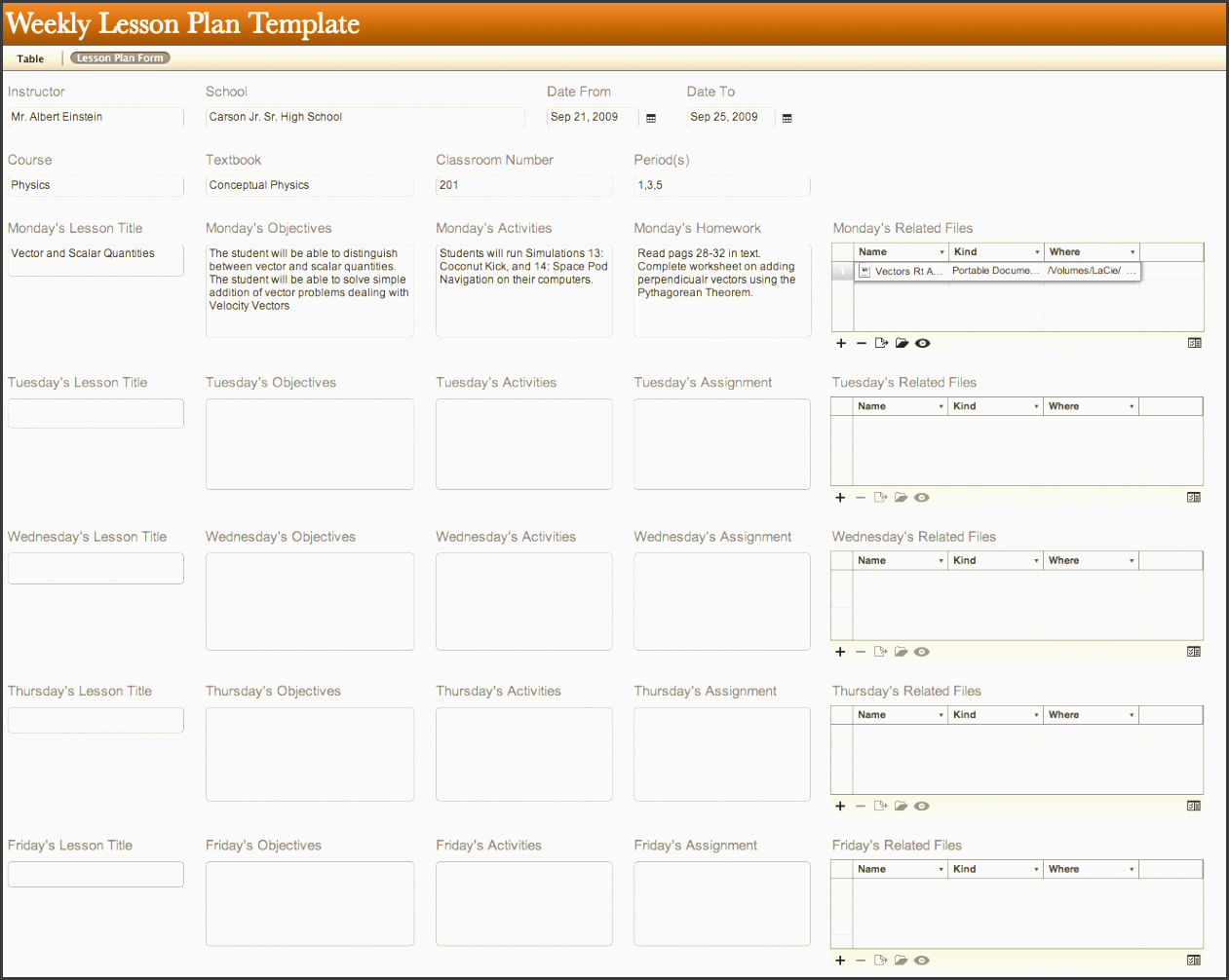 Lesson Planner Template Word Kubreforic
