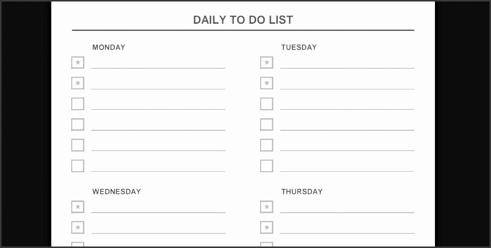 9 daily task list template sampletemplatess sampletemplatess. Black Bedroom Furniture Sets. Home Design Ideas