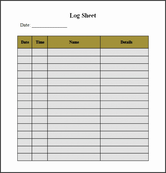 Lab log sheet for Sharps injury log template