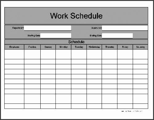 work schedule template geocvc