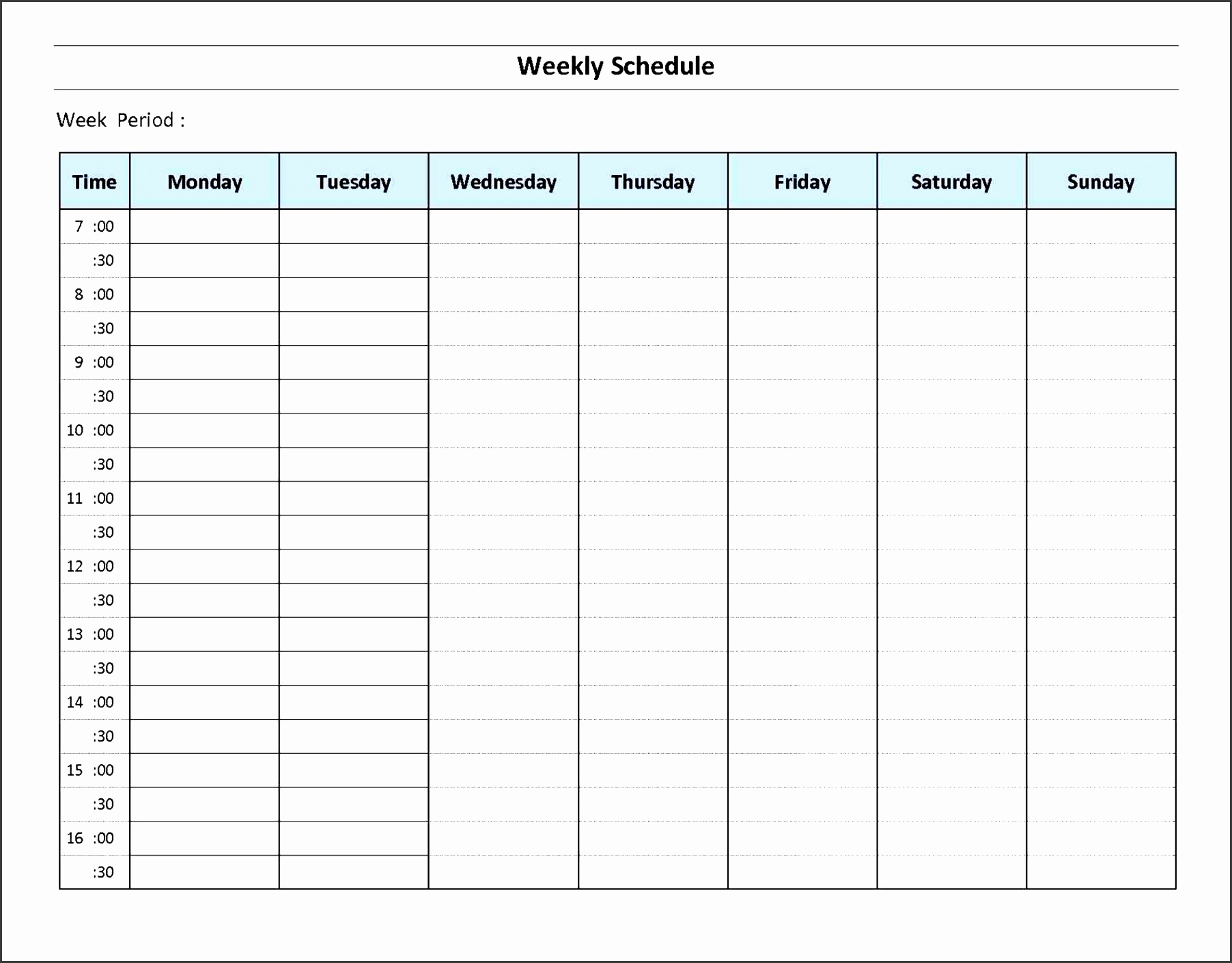 daily work schedule template - Kubre.euforic.co