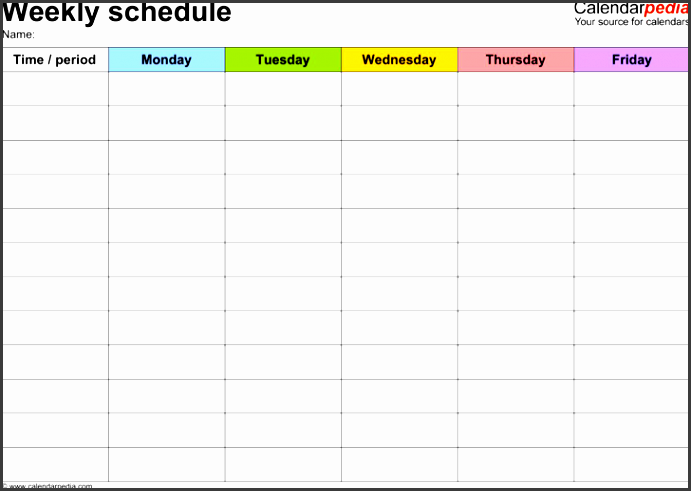 6 Daily Work Schedule Template Printable ...