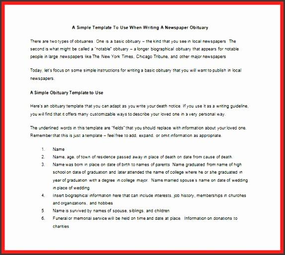 5 Death Notice Template Sampletemplatess Sampletemplatess
