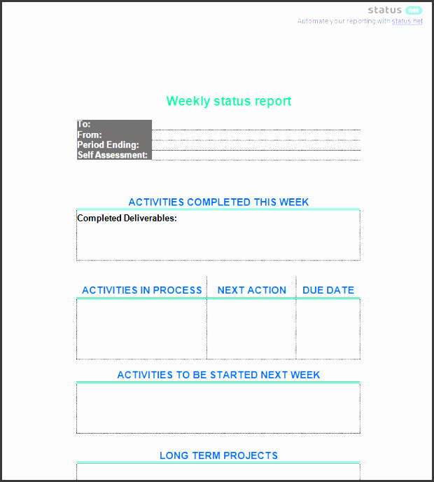2 really simple department status report templates free