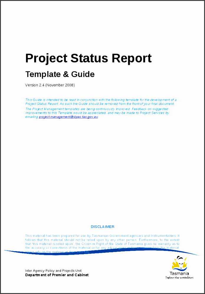 project status report template and guide hashdoc