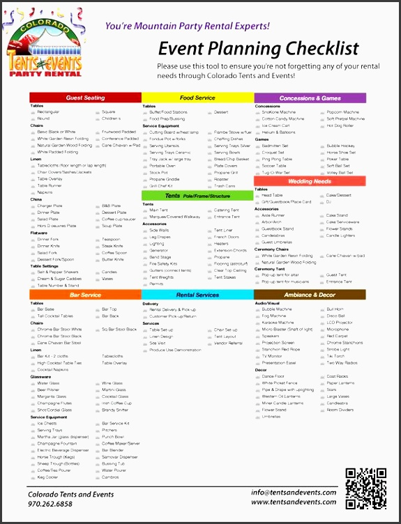 party planning checklist