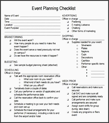 free printable party planning papers event planning checklist 7 free for pdf