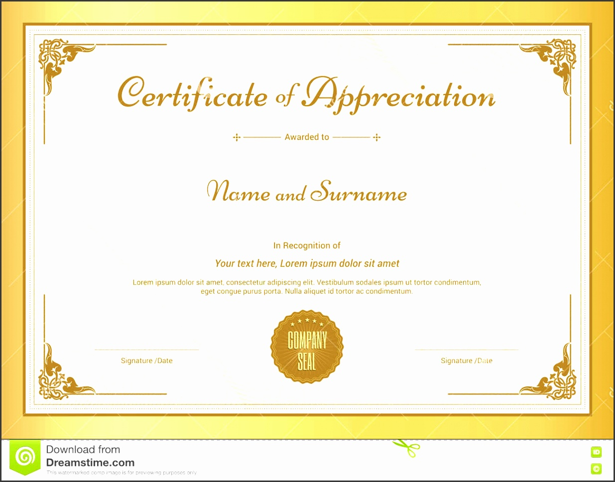 7 download free certificate of appreciation template for Free certificate of appreciation template downloads