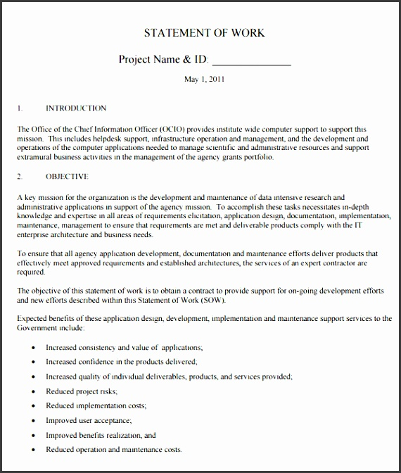 9 download free construction scope of work template