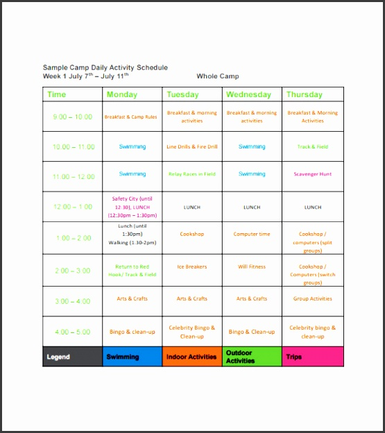 daily activity schedule template - 9 download free daily schedule template sampletemplatess