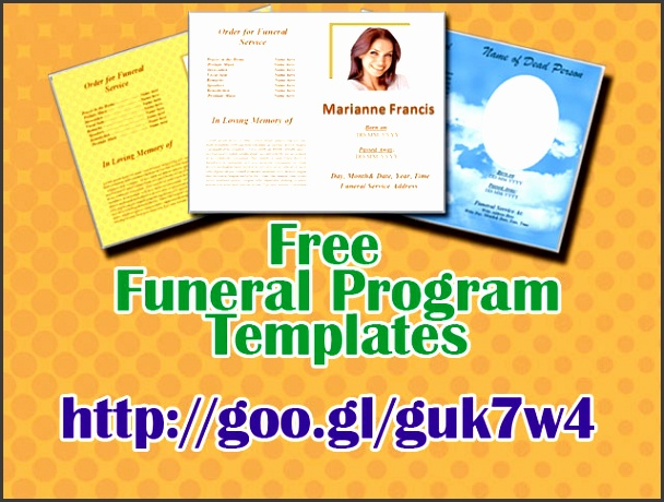 free funeral program template word