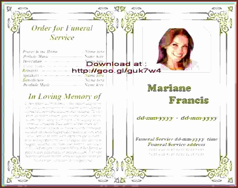 9 download free funeral program template for Free online obituary template
