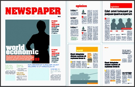 typesetting newspaper vector templates