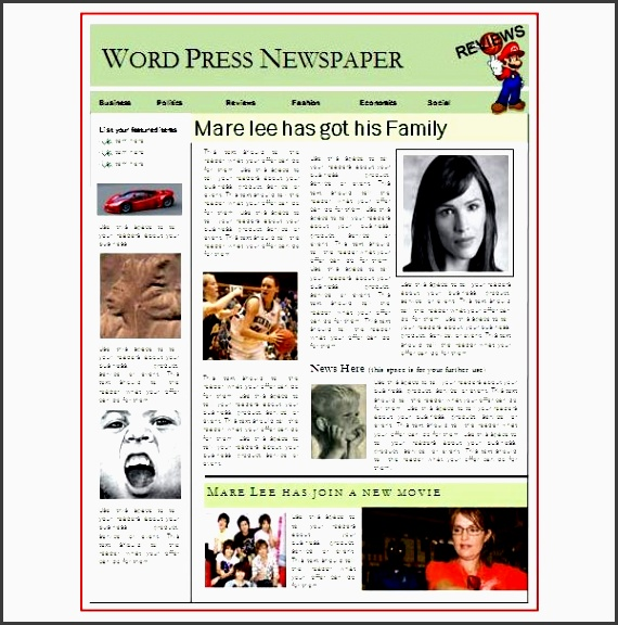 6 download free newspaper template - sampletemplatess