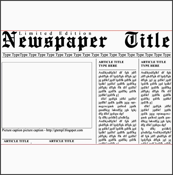 6 download free newspaper template