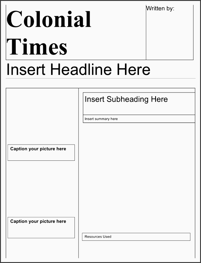 newspaper template free documents for pdf word and excel within colonial newspaper template