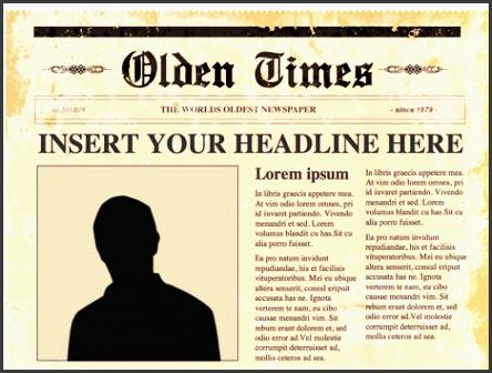 free newspaper template powerpoint editable powerpoint newspapers