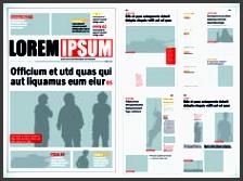 typesetting newspaper vector templates 01