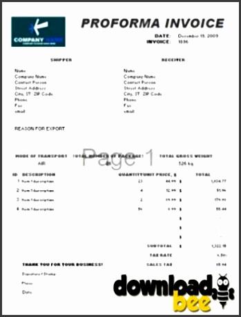 proforma invoice template 1 1