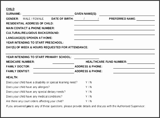 Enrollment Blank Order Pdf Template  Blank Order Form Template