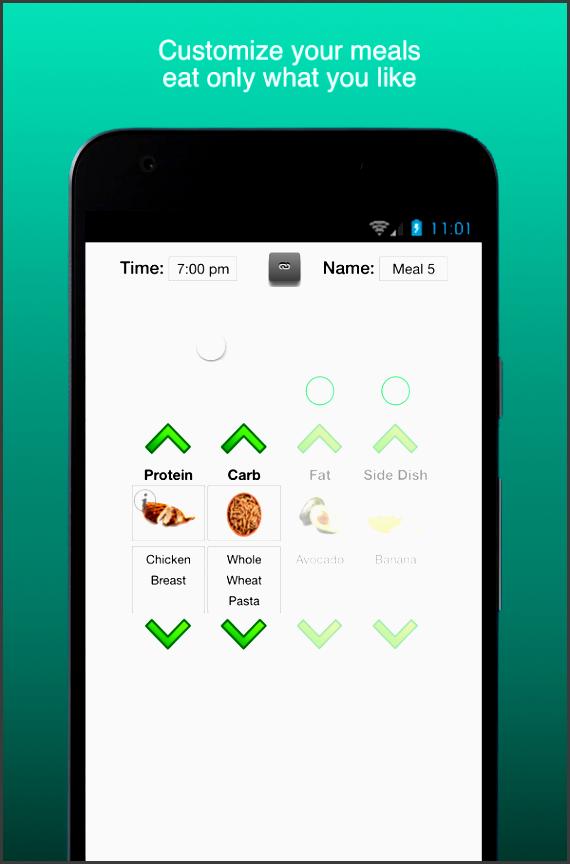 fitness meal planner essence screenshot