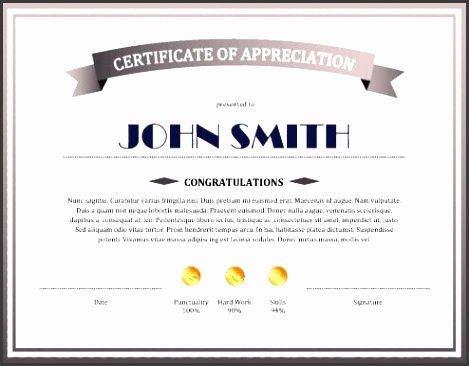 sample certificate of appreciation