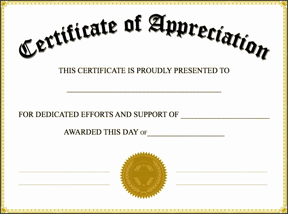 editable certificate of appreciation template certificate of appreciation templates pdf word calendar free