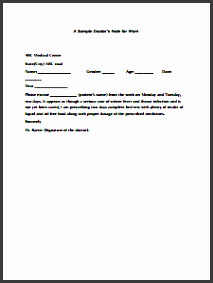 doctors note for work template create edit fill and print
