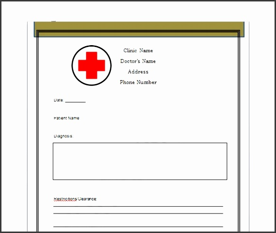 confidential doctor note template