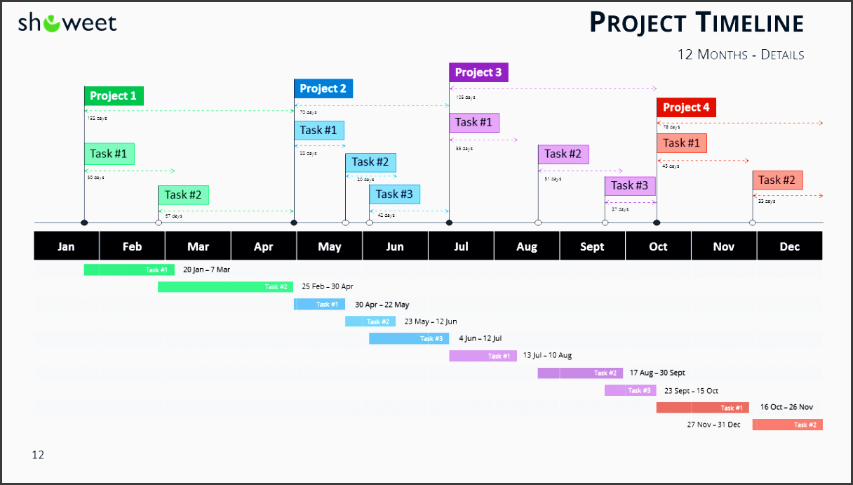 9 easy to use project plan powerpoint sampletemplatess project timeline template for powerpoint details widescreen alramifo Image collections