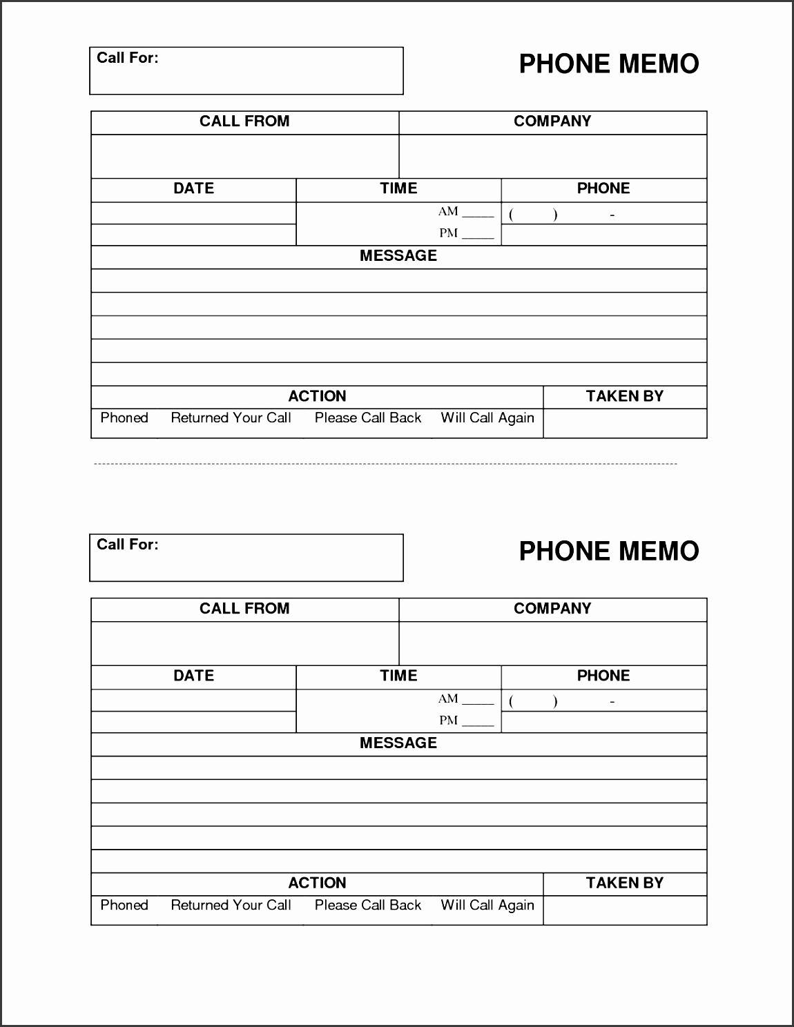 4  easy to use telephone message template