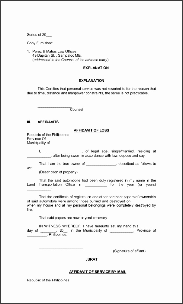 simple affidavit form scan3 jpeg affidavit example affpubl1 6