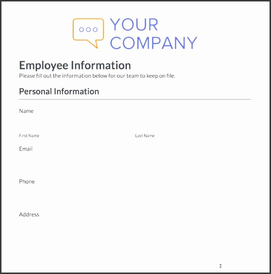 personal information forms templates - Muck.greenidesign.co