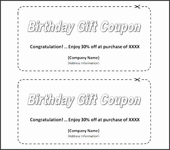 homemade birthday coupon template easy